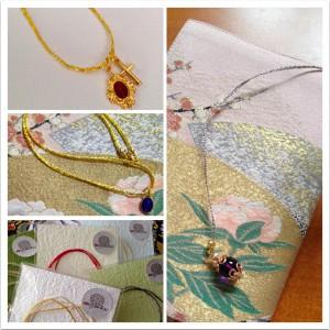 金銀糸ジュエリー メダイ・ネックレス(¥2,300-税抜き)