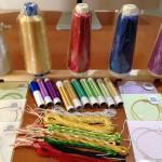 金銀糸、色組み合わせは無限大!伝統色が揃って来ました〜!