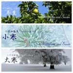 暦カレンダー 1月 冬至・小寒・大寒 2015年二十四節気七十二候