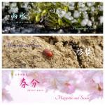 暦カレンダー 3月 雨水・啓蟄・春分  2015年二十四節気七十二候