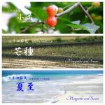 暦カレンダー6月 小満・芒種・夏至 2015年二十四節気七十二候